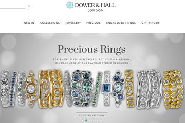 Dower and Hall 英国小众轻奢珠宝品牌网站