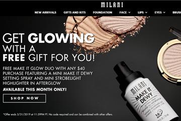 Milani Cosmetics 美国平价彩妆品牌网站