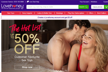 Lovehoney UK 英国成人情趣用品商店网站