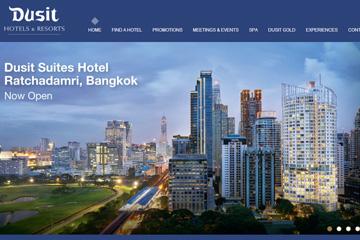 Dusit Hotels 泰国都喜酒店预订网站