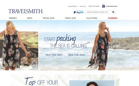 TravelSmith 旅行产品在线预订网站