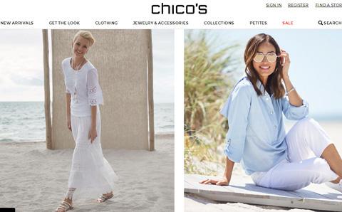 Chicos 美国时尚女装品牌网站