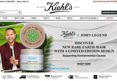 Kiehls 美国契尔氏化妆护肤品牌网站