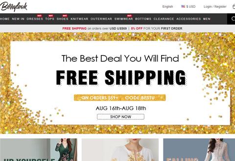 Berrylook 美国女装品牌购物网站