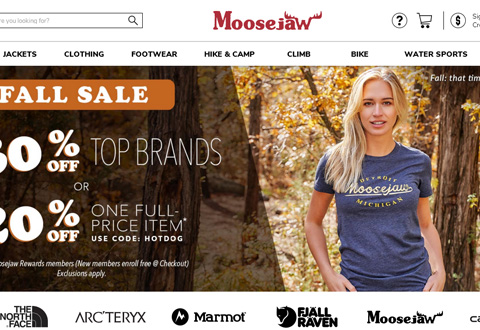 Moosejaw优惠码:Take An Extra 12% Off Clearance.