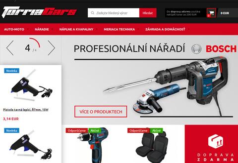 TorriaCars 捷克汽车修理工具与设备销售网站
