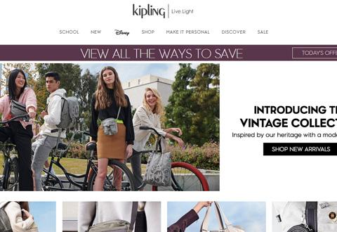 Kipling 凯浦林时尚休闲包袋品牌美国网站