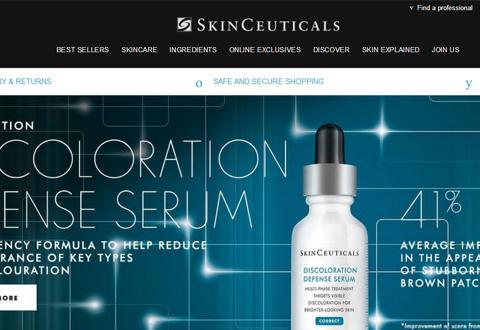 SkinCeuticals 美国高端专业护肤品牌网站