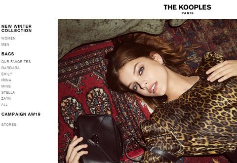 The Kooples 法国奢侈时尚服饰品牌网站