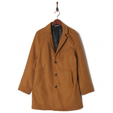 GLADD BEAMS 男士修身长款大衣+GLADD 玫瑰镂空K18金耳环 用码立享包邮