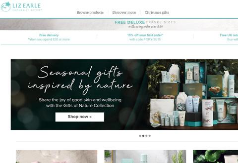 Liz Earle Beauty 英国天然活性护肤品品牌网站