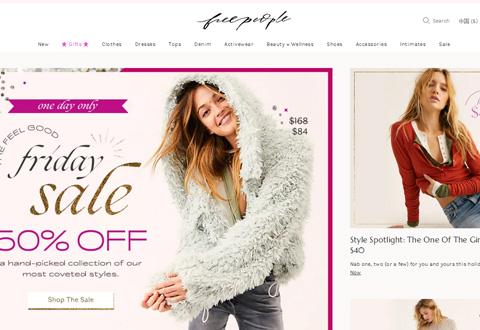 Free People 美国时尚女装品牌网站