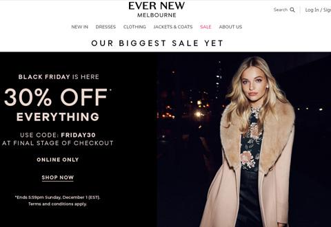 Ever New 澳大利亚时装及配饰品牌网站