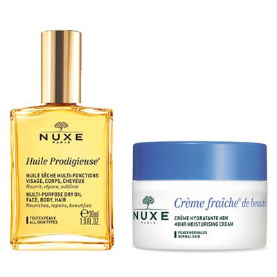 NUXE 欧树 植物鲜奶中性肌肤两件套装 鲜奶霜50ml+精油30ml 5折 叠加满减