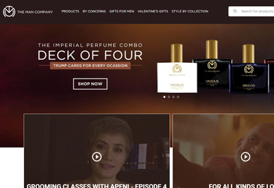 TheManCompany 印度男士高端美容护肤品牌网站