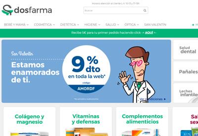 Dosfarma 西班牙网上药房网站