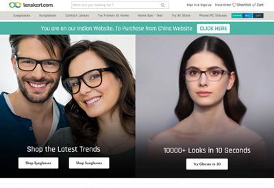 Lenskart 印度眼镜海淘网站