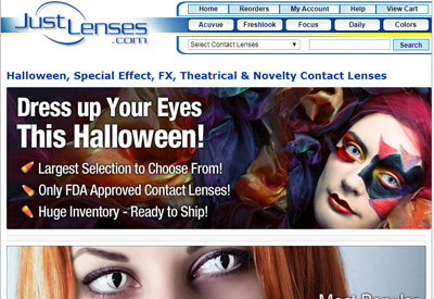 Just Lenses 美国美瞳隐形眼镜海淘网站