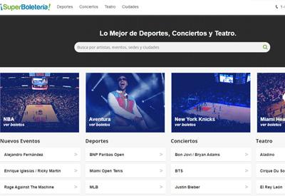 superboleteria 西班牙语在线订票网站