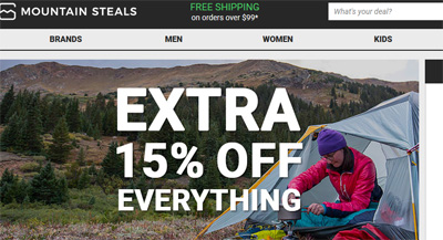 MountainSteals美国户外运动装备网站海淘攻略