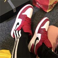 ND官网购Air Jordan 1 Low酒红男士低帮篮球鞋75折