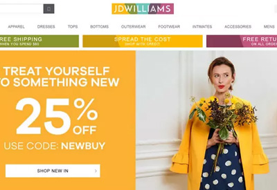 JD Williams 英国大码女装品牌网站