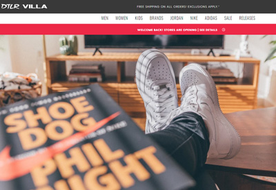 DTLR 美国运动鞋海淘网站