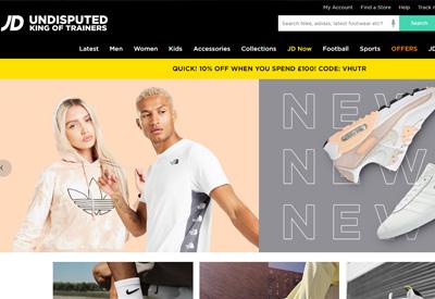 JD Sports Fashion IE 英国运动服饰爱尔兰购物网站