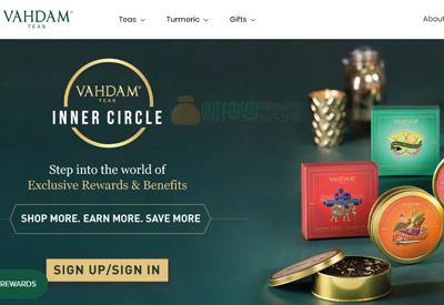 Vahdam 印度茶叶购物网站