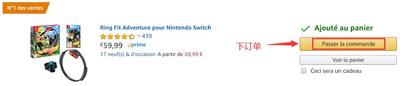 switch健身环大冒险法国亚马逊海淘攻略与转运教程