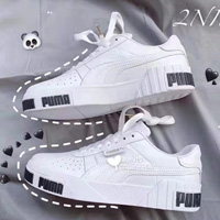 Puma彪马Cali大童款板鞋白底黑字特价