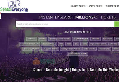 Seatsforeveryone 全球体育演唱会活动折扣门票搜索预订网站