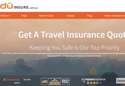 Downunder Insurance 全球旅游保险购买网站