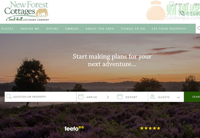 Newforestcottages阿曼达国新森林度假屋预订网站