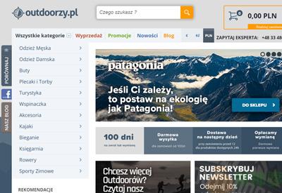 Outdoorzy波兰户外旅游服饰与装备购物网站
