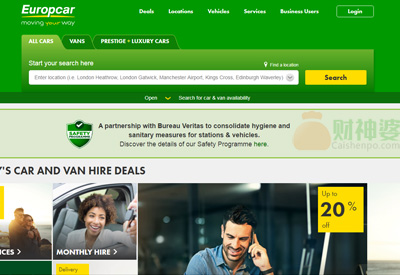 EuropcarInternationalUK英国在线租车预订网站