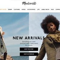 Madewell精选时尚休闲鞋包服饰享额外6折折扣码