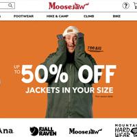 Moosejaw精选户外运动装备服饰 低至5折+额外7折
