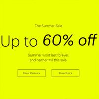 Everlane官网现有夏季大促精选商品低至4折促销 限时免邮