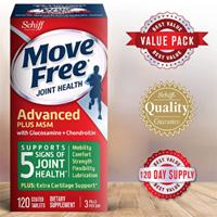 Move Free 绿盒维骨力关节炎止痛配方 120粒*3盒装